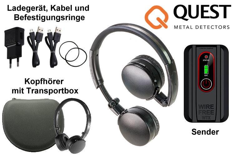 Deteknix Metalldetektor Funkkopfhörer